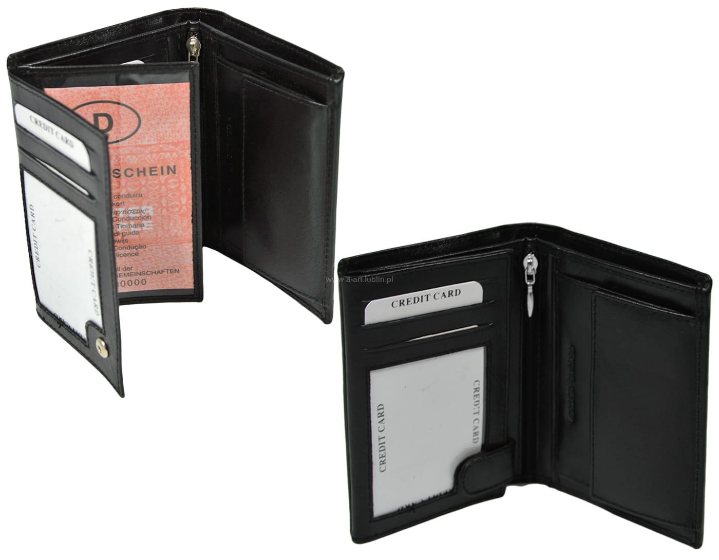 2e7e1bae7ea93 Duży portfel męski mieści dowód rejestracyjny A-ART galanteria ...