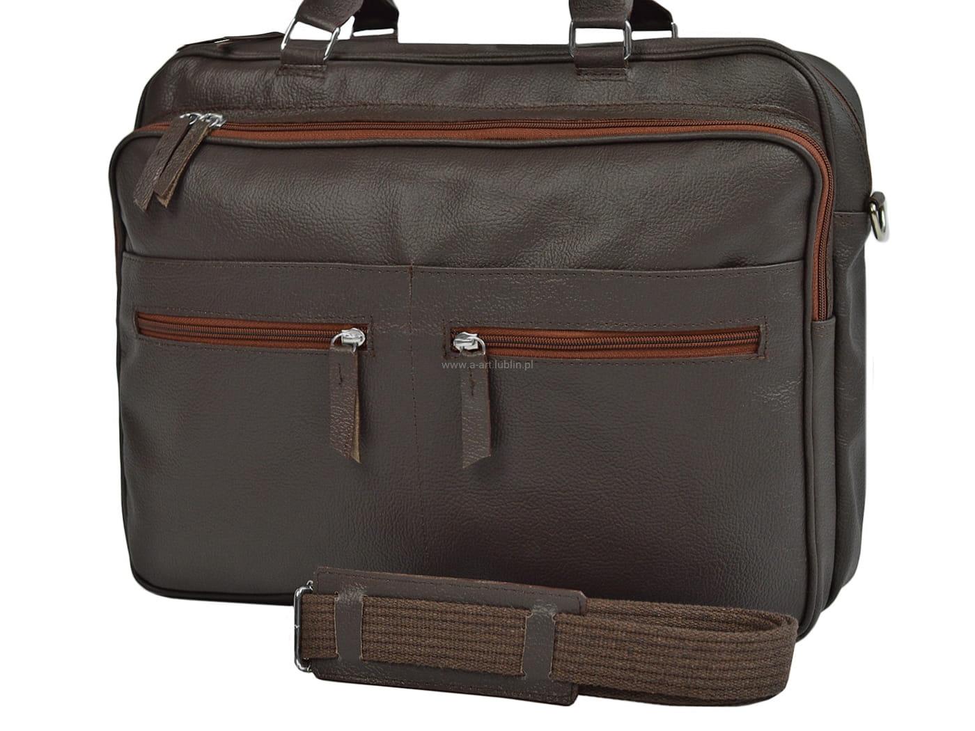 Elegancka torba na laptopa do ręki i na ramię