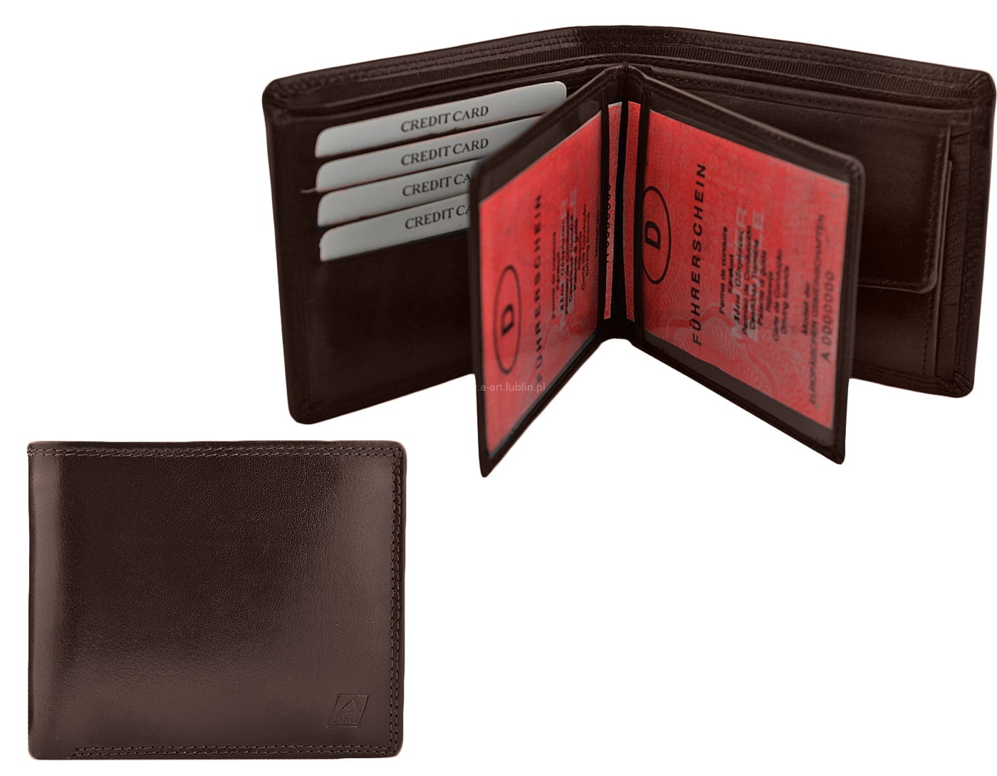 84dd96d3deaa4 Męski portfel skórzany elegancki i wygodny A-ART galanteria skórzana ...