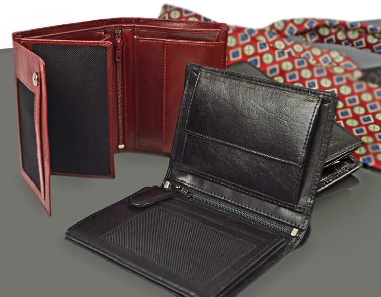 Męski portfel skórzany - wygodny i pojemny